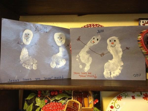 SnowmanFootprints