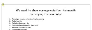 Pastor Appreciation 2014 Ideas