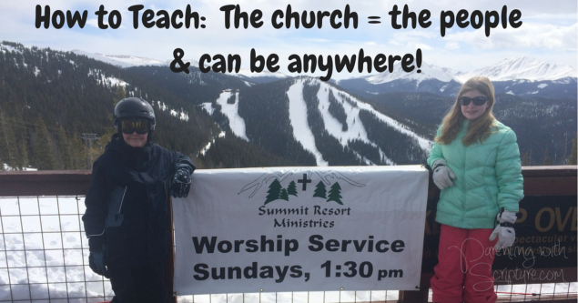 How to Teach_ The church = the people&