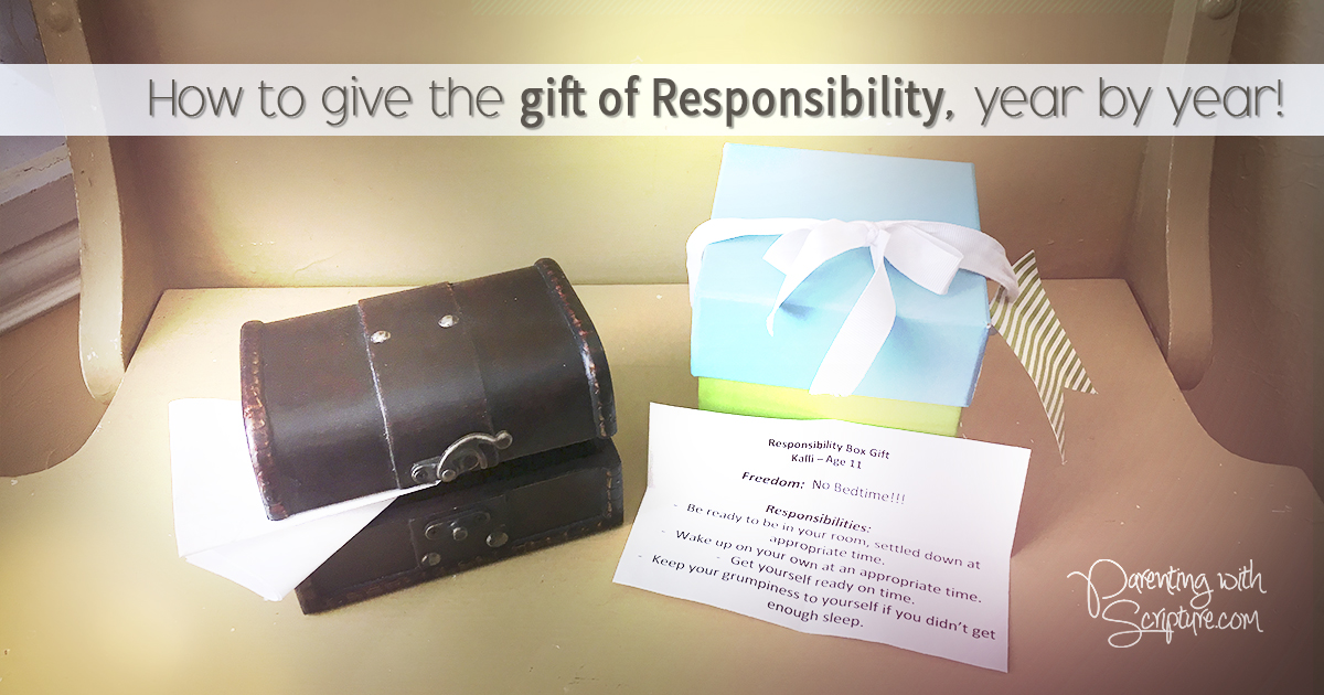 How to give the gift of responsibility, year by year! | Parenting